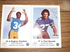 Lot of 5 autographed Winnipeg Blue Bombers police-issued football cards