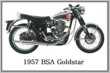 1957 BSA GOLDSTAR - JUMBO FRIDGE MAGNET - VINTAGE CLASSIC MOTORCYCLE BIKE