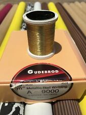 Gudebrod Ht Metallic Fishing Rod Winding thread  Size A, Color Gold  9000.  1.