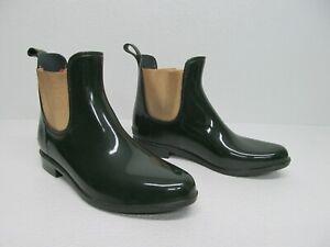 Ralph Lauren Tally Bo Rai Green/Gold Chelsea Rain Bootie Size Womens 10B