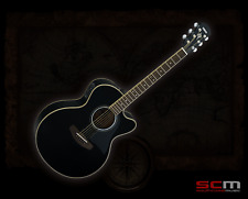 Yamaha CPX500III BL Hand Made Acoustic Electric Guitar Sitka Spruce Top Black