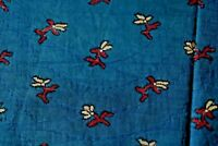 "Rare French Cotton Indigo Resist 18thC Fabric Material~78"" X 17.5""~Quilt,Dolls"