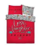 WARNER BROTHERS FRIENDS LOVE LAUGHTER Duvet Cover Set with Pillowcases