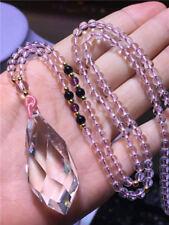 Natural Clear Quartz point Gemstone Chakra Pendulum pendant Crystal necklace