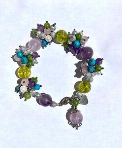 Multi-Gemstone Cluster Bracelet, Tina Maries Jewelry