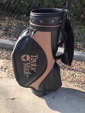 Vintage/Rare TaylorMade Burner Bubble Staff/Tour Golf Bag - Black/Brown/copper