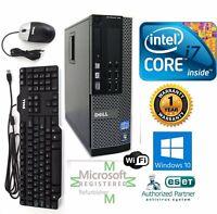 Dell PC SFF Intel i7 2600 3.40g 16GB  NEW 1TB SSD Windows 10 Pro DVI Wifi