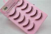 5Pairs/set Long Lashes Nautral Handmade cross Thick False Eyelashes Eye Makeup