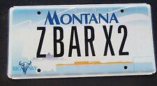 "MONTANA BIG SKY VANITY LICENSE PLATE "" Z BAR X2 "" BEEF CATTLE RANCH ZBAR"