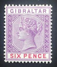 Gibraltar Reina Victoria 1898 6d violeta Y Rojo Sg 44. (Cat. £ 45)