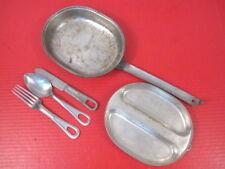 WWII US Army/USMC Mess Kit Complete w/Utinsels Knife, Spoon & Fork - Dtd 1943 #1