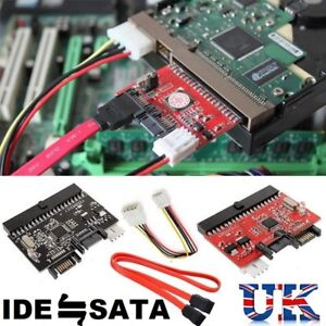 IDE 100/133 HDD CD DVD TO SATA Converter Adapter, SATA CABLE AND POWER CONNECTOR