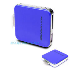 2200MAH PORTABLE EXTERNAL BLUE BATTERY MOBILE CHARGER USB IPHONE 4S 4 3GS IPOD