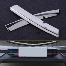 2x Chromed Steel Grill Strips Trim Cover fit Mazda CX5 2017 18 Bumper Air-inlet