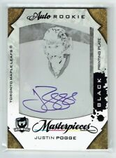 08-09 UD The Cup  Justin Pogge  1/1  The Cup Printing Plate  Auto  Rookie