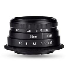 35mm f1.6 Manual Focusing Lens for Mirrorless Camera Photography for Canon Mount