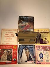 Rare Vintage View-Master Viewer and 6 Coronation Reel Sets QUEEN ELIZABETH MORE
