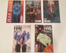 Star Wars Han Solo Comic Lot! #1-5 1 2 3 4 5! All 1:25 Variants! Complete Run!