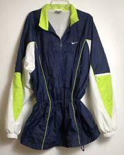 Vintage 80s 90s Nike Women s Nylon Windbreaker Jacket XL Blue Green 72b4ecf44