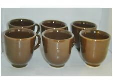 Homer Laughlin China Fiesta Ware Retired Chocolate Coffee Cups, Lot of 6