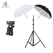 "speedlite umbrella lighting photography kit light stand+Bracket B+2x33"" umbrella"