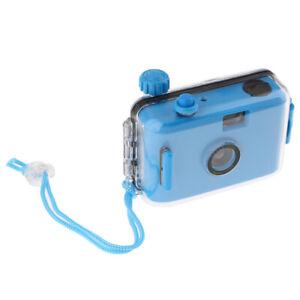 Scuba Diving Waterproof Lomo Camera 35mm Film w/ Housing Case Reusable Blue