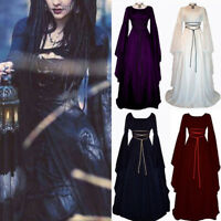 Long Princess Dress Women Witch Costumes Adult Carnival Dresses Cosplay Clothes