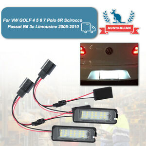 For VW Passat CC Polo GTI Golf MK4/5/6 LED Licence Number Plate Lights Canbus
