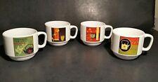 Cypress Home Asian Tea Mugs Cups 6 Oz Chai Infusion Organic Green Tea Lot Of 4
