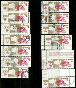 Canada #687 13 used $2 stamps Olympic Sites F - VF