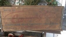 RARE Antique Carnegie Beer Wood Shipping Crate , Chartiers Valley Brewing, PA