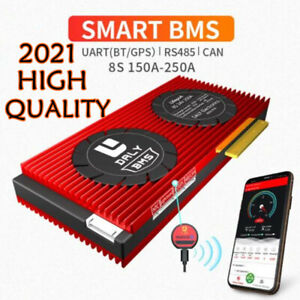 8S 24V 150-250A LiFePo4 3.2V Battery Smart Protection BMS Board UART RS485 CAN
