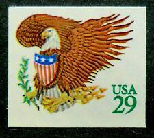 2596 MNH 1991 29c Eagle and Shield Arrows & olive branch birds raptors emblems