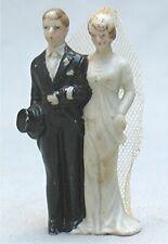 Vintage Bisque Bride & Groom