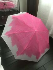 Pink & White Travel Packable Umbrella