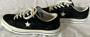 Converse One Star Black White Low Top Suede Sneakers Size Women's 7 Men's 5 37.5