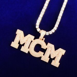 "Custom Bubble Letter Pendant Drip 18"" - 30"" Necklace Rope Chain Hip Hop Necklace"
