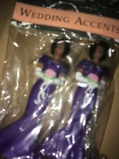 Vtg Wedding Accents Bridesmaid Cake Toppers Wedding African American Like Wilton