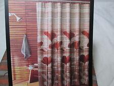 New Parker Loft CALIFORNIA POPPY Floral Fabric Shower Curtain 70x72 - Spice NIP