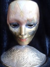 Lovely Vintage Brass Mask on a Brass Stand Rare and unusual