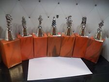 7 Real Nice All with Different Top Figures Silver Plated Bells Iob
