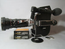 BOLEX H16-M5 16MM MOVIE CAMERA,ANGENIEUX REFLEX ZOOM LENS 400FT MAG RACK AMAZING