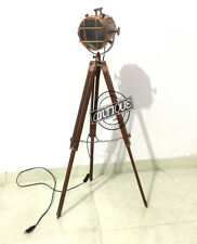 Halloween House Searchlight Floor Lamp Stand with Tripod LED Copper Finish Studi