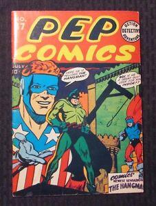 1974 Flashback Reprint of PEP COMICS #17 VF- 1st Hangman
