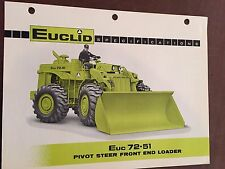 EUCLID EUC 72-51 WHEEL LOADER  BROCHURE ORIGINAL ANTIQUE  TRACK