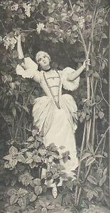 Savini Sous les fleurs estampe en xylographie c 1880