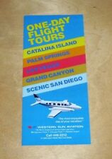 WESTERN SUN AVIATION ONE-DAY TOURS CATALINA ISLAND GRAND CANYON BROCHURE 1981