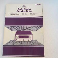 Sams AR-330 Auto Radio Service Data 1982 1st Edition Description has Models
