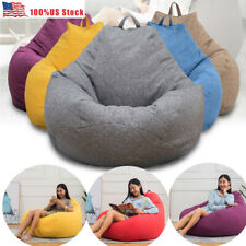 Soft Bean Bag Cover Sofa Lazy Lounger Couch Floor Chair Home Decor No Filler USA