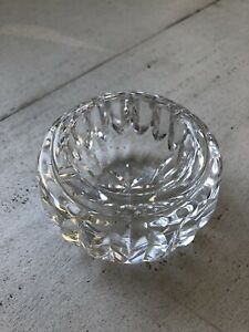 """Waterford crystal small ashtray 3.5"""" round vintage"""